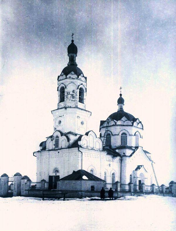 Затеченская церковь. Юго-западный вид 1924 г