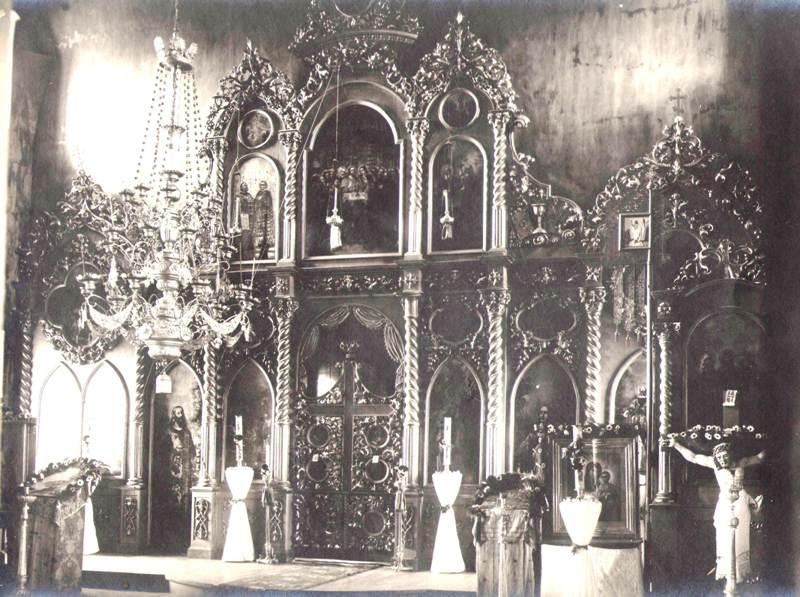 Нижне-Ярская церковь летний иконостас 1924 г