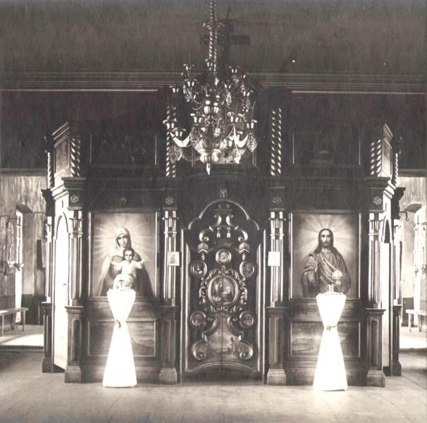 Нижне-Ярская церковь  зимний иконостас 1924 г.
