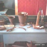 Фрагмент экспозиции музея. Крестьянская утварь