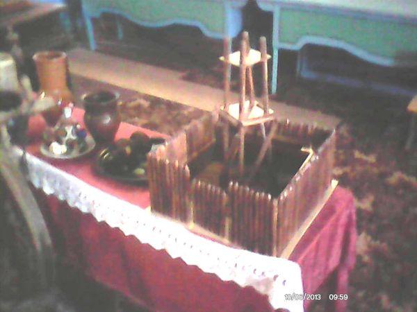 Фрагмент экспозиции музея. Схема Крутихинского острога