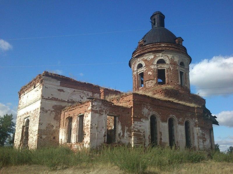 Церковь села Новоторжского (Макаровского) Юго - Западный вид. Настоящее время