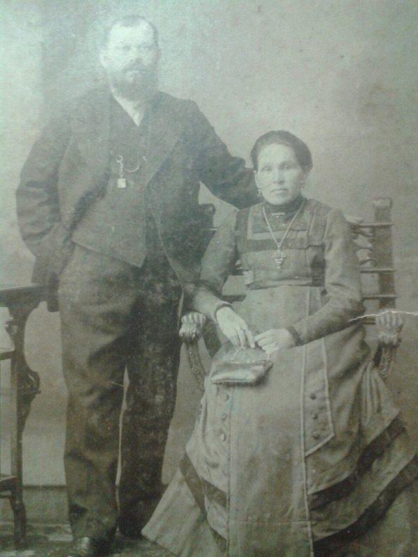 Боголюбов Александр Андрианович,со своей женой