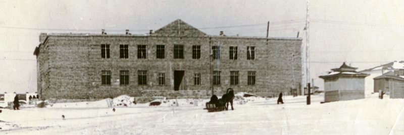Строится здание ДСШ. 1953 год